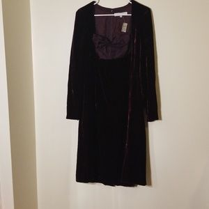 Nwt Carolina herrera velvet and silk dress